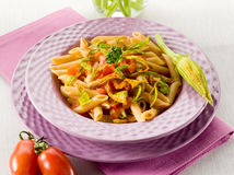 Free Pasta With Zucchinis Flower Royalty Free Stock Photography - 24327987