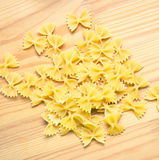 Pasta. On a wooden background Royalty Free Stock Image