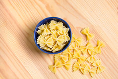 Pasta. On a wooden background Stock Image