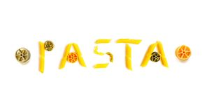 Pasta word Royalty Free Stock Images