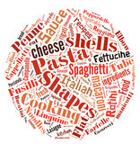 Pasta Word Cloud Stock Photo