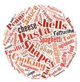 Pasta Word Cloud stock photo
