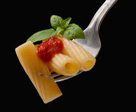 Pasta on the work Royalty Free Stock Photo