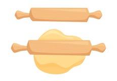 Pasta y rodillo stock de ilustración