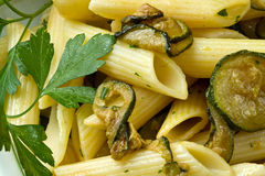 Pasta with zucchini Royalty Free Stock Photos