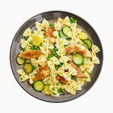 Pasta with zucchini and chicken Royalty Free Stock Image