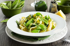 Pasta with zucchini Royalty Free Stock Images