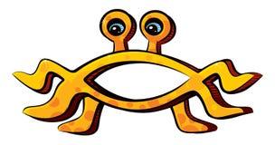 Pastafarianism religion emblem on white background Stock Photo