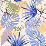 Pastale artisticsummer вектора тропическое безшовного красивого яркое Стоковые Изображения