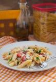 Pastapeperonata - pasta med spansk peppar Arkivfoton