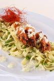 pastaräkagrönsak Arkivfoton