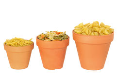 Pastas. To store in jars Stock Images