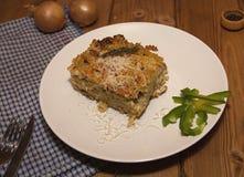 Pastas cocidas al horno Fotos de archivo