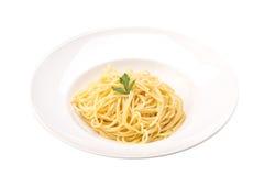 Pastas cocinadas de los espaguetis Foto de archivo