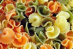 Pastas coloreadas Imagen de archivo libre de regalías