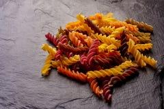 Pastas coloreadas de Eco imagen de archivo libre de regalías
