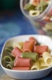 Pastas coloridas Fotografía de archivo libre de regalías