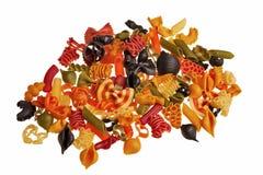 Pastas coloridas italianas. fotos de archivo libres de regalías