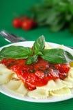 Pastas con albahaca Imagen de archivo