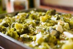 Pastas con bróculi Foto de archivo