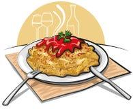 Pastas con la salsa Fotografía de archivo libre de regalías