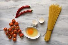 Pastas con los tomates Fotografía de archivo