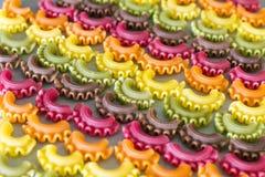 Pastas crudas coloridas Fotografía de archivo libre de regalías