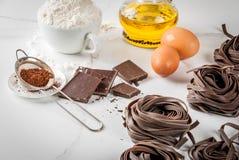 Pastas crudas del chocolate Imágenes de archivo libres de regalías