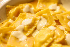 Pastas de Agnolotti Imagen de archivo