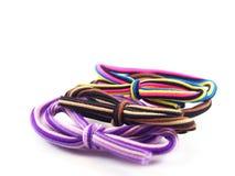 Pastas de anel multicoloridos com curva, acessório do cabelo para a senhora Fotos de Stock Royalty Free