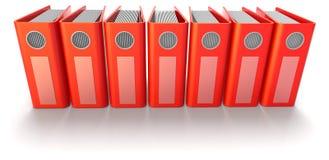 Pastas de anel vermelhas Imagem de Stock