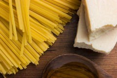 Pastas de cocinar mediterráneas de la comida italiana Fotos de archivo