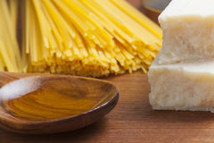 Pastas de cocinar mediterráneas de la comida italiana Foto de archivo