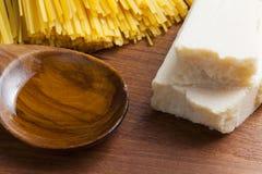 Pastas de cocinar mediterráneas de la comida italiana Fotografía de archivo libre de regalías