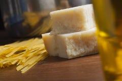 Pastas de cocinar mediterráneas de la comida italiana Imágenes de archivo libres de regalías