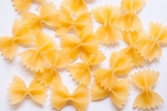 Pastas de Farfalle Imagen de archivo libre de regalías