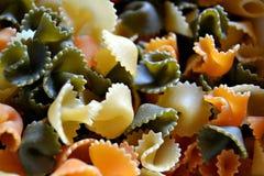 Pastas de Farfalle Imágenes de archivo libres de regalías