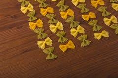 Pastas de Farfalle Imagen de archivo