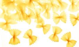 Pastas de Farfalle aisladas imagen de archivo libre de regalías