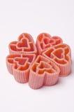 Pastas de la dimensión de una variable del corazón Foto de archivo libre de regalías