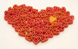 Pastas de las tarjetas del día de San Valentín Foto de archivo