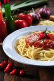 Pastas de los espaguetis Fotografía de archivo