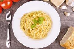 Pastas de los espaguetis imagenes de archivo