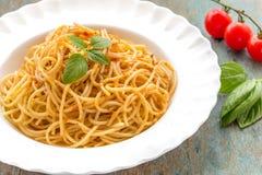 Pastas de los espaguetis Fotos de archivo