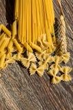 Pastas de los macarrones fotografía de archivo libre de regalías