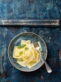 Pastas de los raviolis Foto de archivo