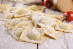 Pastas de los raviolis Imagen de archivo libre de regalías