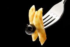 Pastas de Penne con la salsa boloñesa Imagen de archivo