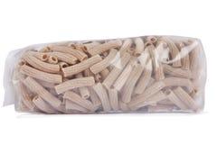 Pastas de Penne en el empaquetado sin diseño Imagen de archivo libre de regalías