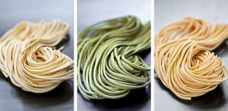Pastas de Tagliolini imágenes de archivo libres de regalías